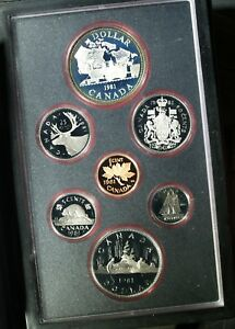 1981 CANADA DOUBLE $$ PROOF SET  SILVER  ORIGINAL PACKAGE & COA    A