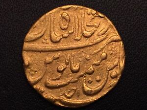 Click now to see the BUY IT NOW Price! MUGHAL EMPIRE SHAH JAHAN II   1719 AD  GOLD MOHUR SHAHJAHANABAD  MINT EX