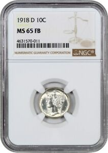 Click now to see the BUY IT NOW Price! 1918 D 10C NGC MS65 FB   SILKY LUSTROUS GEM