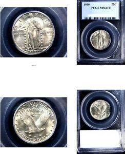 Click now to see the BUY IT NOW Price! 1930 25C MS64FH PCGS WHITE STANDING LIBERTY QUARTER
