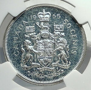 Click now to see the BUY IT NOW Price! 1965 CANADA UK QUEEN ELIZABETH II UNICORN OLD SILVER 50 CENTS COIN NGC I77264