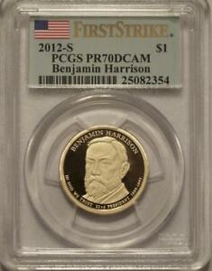 Click now to see the BUY IT NOW Price! 2012 S BENJAMIN HARRISON PCGS PR70 FIRST STRIKE PRESIDENTIAL DOLLAR  85