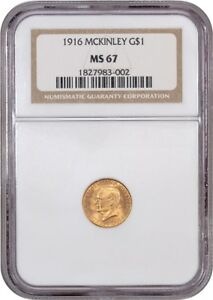Click now to see the BUY IT NOW Price! 1916 MCKINLEY G$1 NGC MS67   CLASSIC COMMEMORATIVE   GOLD COIN