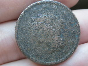 1842 BRAIDED HAIR LARGE CENT PENNY SMALL DATE
