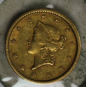 1851 TYPE 1 $1 LIBERTY GOLD COIN   NICE EXTRA FINE CONDITION COIN