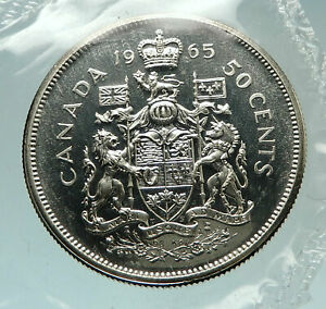 Click now to see the BUY IT NOW Price! 1965 CANADA UK QUEEN ELIZABETH II UNICORN OLD SILVER 50 CENTS COIN I76502