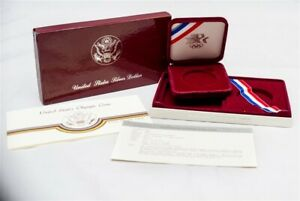 OGP FOR 1984 S LOS ANGELES OLYMPICS COMMEMORATIVE PROOF SILVER $1