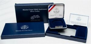 OGP FOR 2005 MARINE CORPS 230TH ANNIVERSARY COMMEMORATIVE PROOF SILVER $1