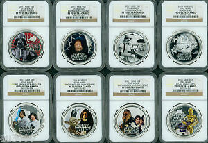 Click now to see the BUY IT NOW Price! 2011 NIUE STAR WARS SILVER REBEL ALLIANCE & DARK SIDE 8 COIN 2 SET NGC PF70 OGPS