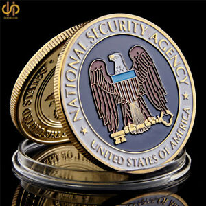 USA NATION SECURITY AGENCY WASHINGTON.D.C GOLD CHALLENGE COIN COLLECTION