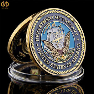 USA DEPARTMENT OF THE NAVY GREAT SEAL AMERICAN GOLD CHALLENGE COIN COLLECTION