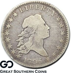1795 FLOWING HAIR HALF DOLLAR SMALL EAGLE HIGHLY COLLECTIBLE CHOICE FINE  TYPE