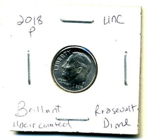2018 P CH BU UNC ROOSEVELT DIME BRILLIANT UNCIRCULATED US 10 CENT U.S COIN1398