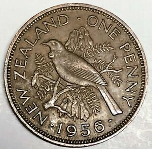 C8682     NEW ZEALAND    COIN     LARGE PENNY    1956