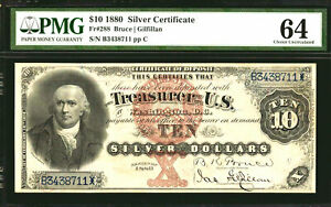 Click now to see the BUY IT NOW Price! 1880 $10 FR 288  LARGE SILVER CERTIFICATE PMG 64