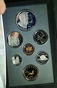 1995 CANADA DOUBLE DOLLAR PROOF SET   HUDSON BAY    ORIGINAL PACKAGING & COA