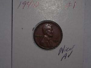 WHEAT PENNY 1941D GREAT BROWN  AU 1941 D LINCOLN CENT LOT 1 NICE BROWN LUSTER