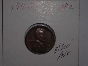 WHEAT PENNY 1941D NICE BROWN  AU  1941 D LINCOLN CENT LOT 2 NICE BROWN LUSTER