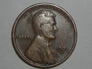 WHEAT PENNY 1929D LINCOLN CENT 1929 D NICE HIGH GRADE DETAILS  LOT 7