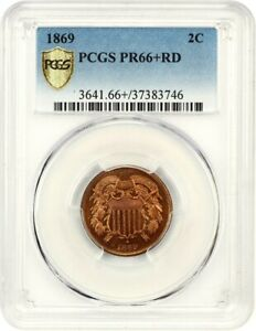 Click now to see the BUY IT NOW Price! 1869 2C PCGS PR 66  RD   2 CENT PIECE   FINEST KNOWN