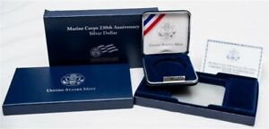 OGP FOR 2005 MARINE CORPS 230TH ANNIVERSARY COMMEM PROOF SILVER $1   NO COIN