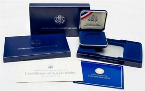 OGP FOR 1987 S U.S. CONSTITUTION COMMEMORATIVE PROOF SILVER $1   NO COIN