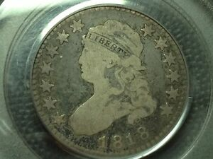1818  PCGS  VG 8  CAPPED BUST QUARTER   NICE COIN