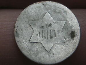1851 1853 THREE 3 CENT SILVER  OLD TYPE COIN