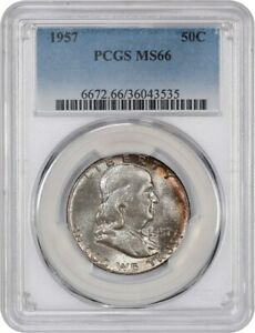 1957 50C PCGS MS66   FRANKLIN HALF DOLLAR