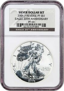 2006 P SILVER EAGLE $1 NGC PROOF 69  REVERSE PROOF