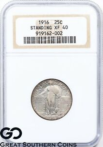 Click now to see the BUY IT NOW Price! 1916 STANDING LIBERTY QUARTER NGC XF 40    HIGHLY COVETED  KEY DATE