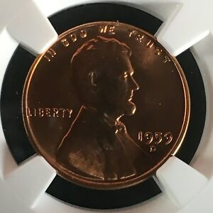 Click now to see the BUY IT NOW Price! 1959 D 1C RD LINCOLN MEMORIAL ONE CENT NGC MS68RD      4230527 001C