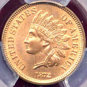 Click now to see the BUY IT NOW Price! 1872 1C MS65RD PCGS  ONLY 3 IN HIGHER GRADE   INDIAN CENT