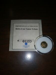 DECLARATION OF INDEPENDENCE 14KT COMMEMORATIVE SOLID GOLD COIN