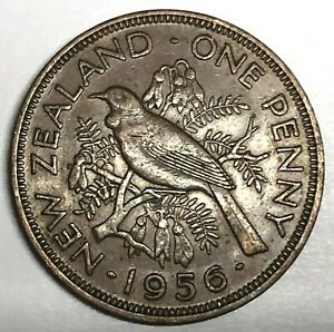 C9534     NEW ZEALAND    COIN     LARGE PENNY    1956