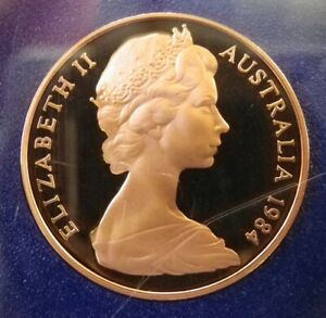 1984 AUSTRALIAN PROOF TWO CENT  2C  COIN