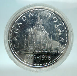 Click now to see the BUY IT NOW Price! 1976 CANADA UK QUEEN ELIZABETH II LIBRARY GENUINE SILVER DOLLAR COIN I79802