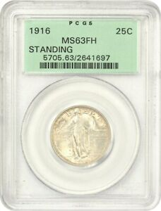 Click now to see the BUY IT NOW Price! 1916 STANDING LIBERTY 25C PCGS MS63 FH  OGH  FAMOUS KEY DATE RARITY