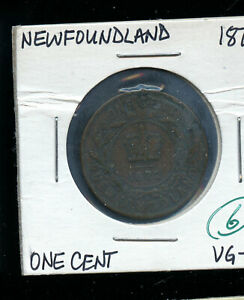 1872 NEWFOUNDLAND LARGE CENT VG8 DSP160