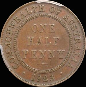 Click now to see the BUY IT NOW Price! 1923 HALFPENNY PCGS AU50BN