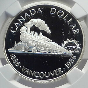 Click now to see the BUY IT NOW Price! 1986 CANADA VANCOUVER UK QUEEN ELIZABETH II TRAIN PROOF SILVER COIN NGC I79861