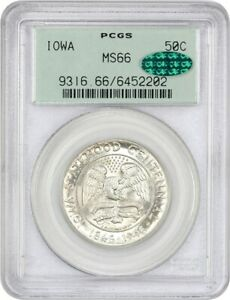 1946 IOWA 50C PCGS/CAC MS66  OGH  OLD GREEN LABEL HOLDER