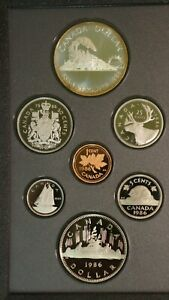 1986 CANADIAN DOUBLE DOLLAR PROOF SET CANADA UNCIRCULATED