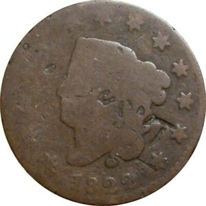 1822 CORONET CENT  ABOUT GOOD   N 6 R 3