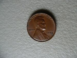 UNITED STATES PENNY     1958   8 SEMI FILLED  CUD ON RIGHT WHEAT  ERROR COIN NB