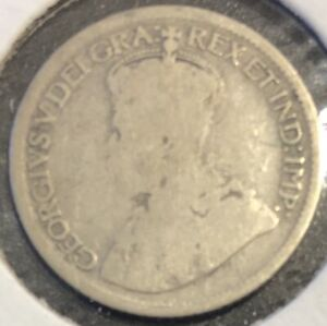 1920   CANADA   10 CENTS   GEORGE V   G4 CONDITION