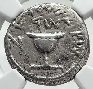 Click now to see the BUY IT NOW Price! ANCIENT JEWISH WAR V ROMANS SILVER YEAR 4 SHEKEL OF JERUSALEM COIN NGC I80330