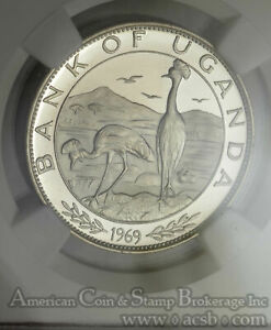 Click now to see the BUY IT NOW Price! UGANDA 5 SHILLINGS 1970 PR65 UCAM NGC SILVER KM9 7670 MINTAGE PAUL VI