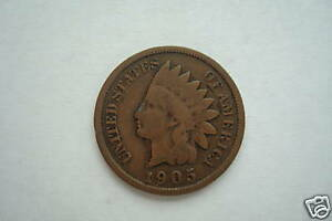 INDIANHEAD ONE CENT 1895 1906 GOOD CONDITION LIMIT ONE RANDOM DATE