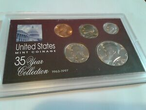 1988   SPECIAL 35 YEAR US MINT COIN COLLECTION SEALED CASE   5 COINS